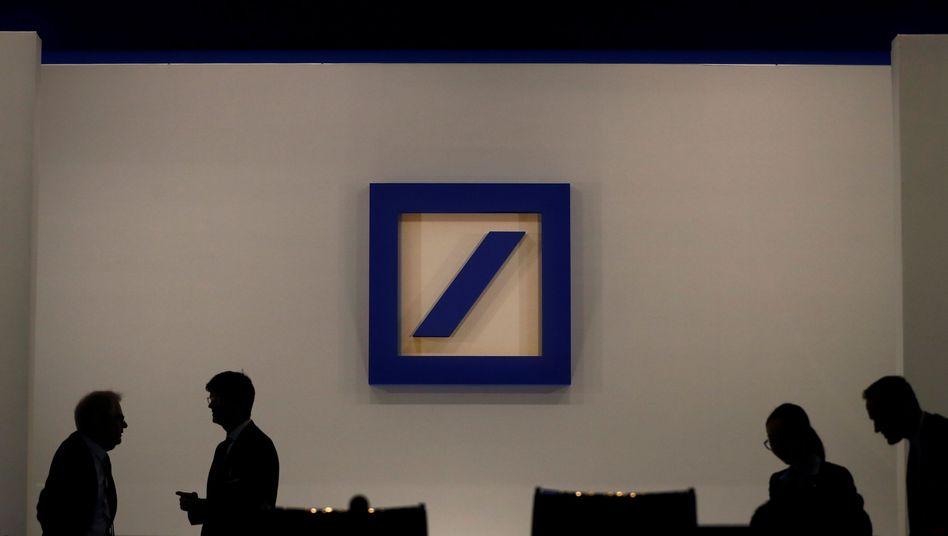 Deutsche-Bank-Logo auf Hauptversammlung