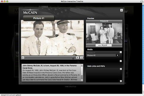 Screenshot von McCains Wahlkampf-Website: Geboren in Panama?