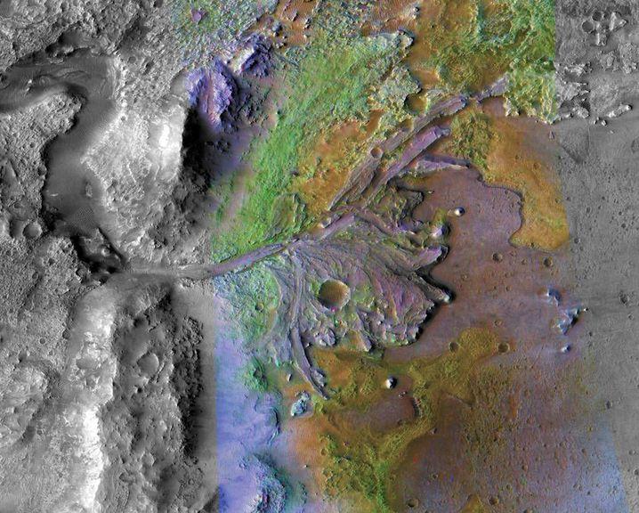 Jezero-Krater auf dem Mars
