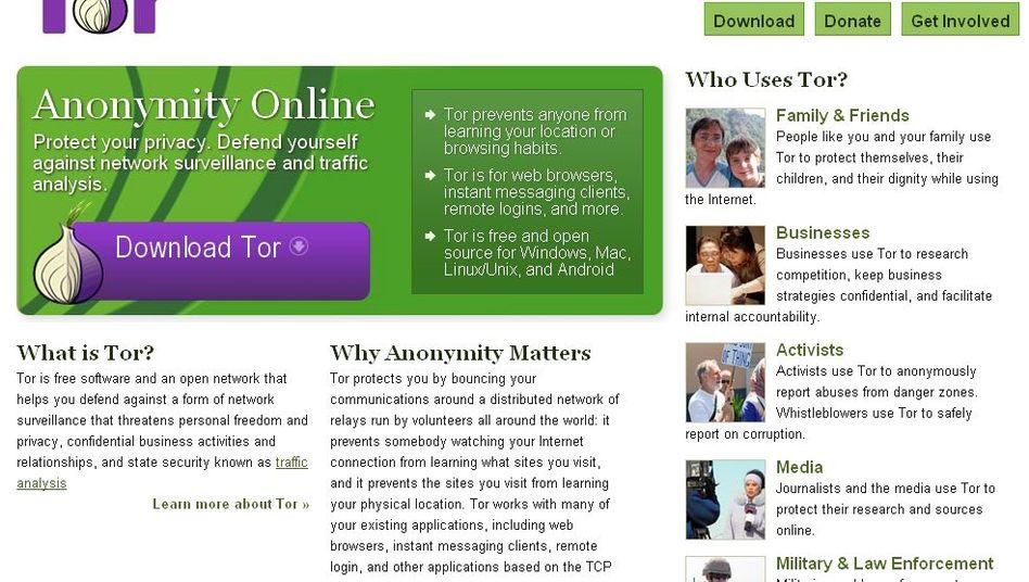 Tor-Webseite: Populärster kostenloser Anonymisierungsdienst der Welt