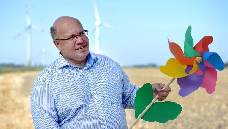 Bundesminister Peter Altmaier – heute Wirtschaftsminister, im Bild noch Umweltminister – zählt seit mindestens einem Jahrzehnt zu den prägenden Politikern der CO2-Wende
