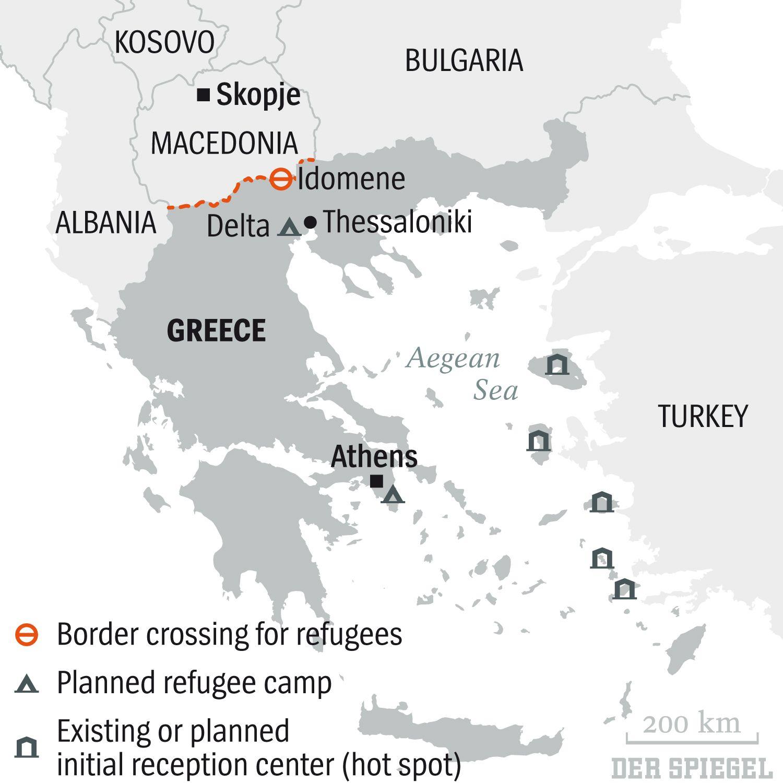 ENGLISH VERSION GRAFIK DER SPIEGEL 6/2016 Seite 85 - Border crossing for refugees