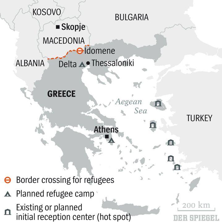 Map: Greece's refugee conundrum.