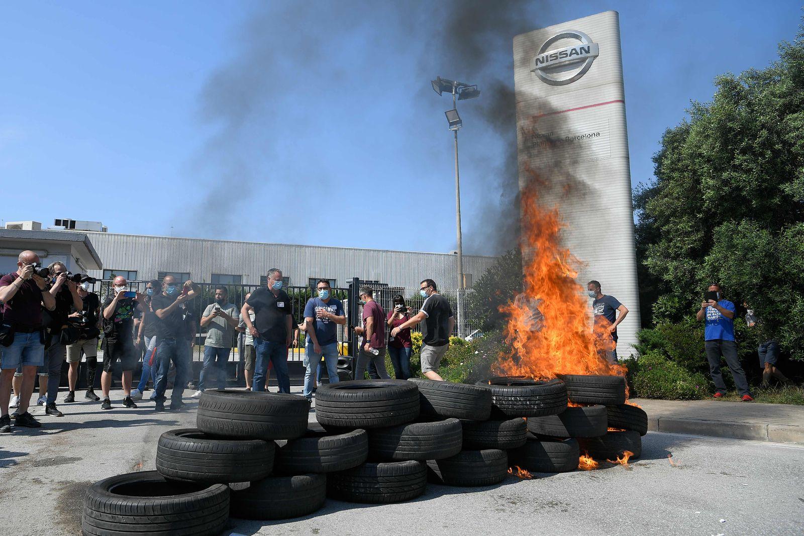 SPAIN-JAPAN-AUTOMOBILE-ECONOMY-LABOUR-PROTEST