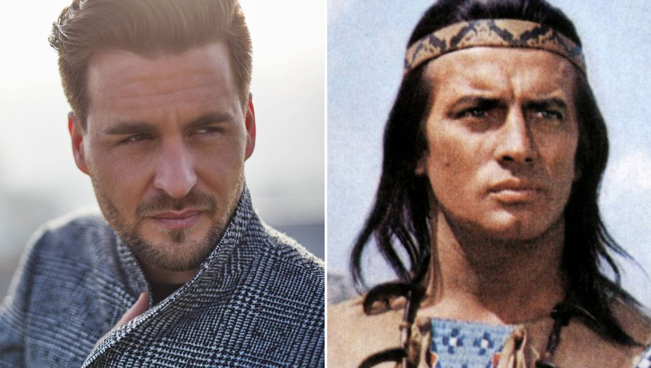 Winnetou-Anwärter Alexander Klaws, Winnetou-Darsteller Pierre Briece