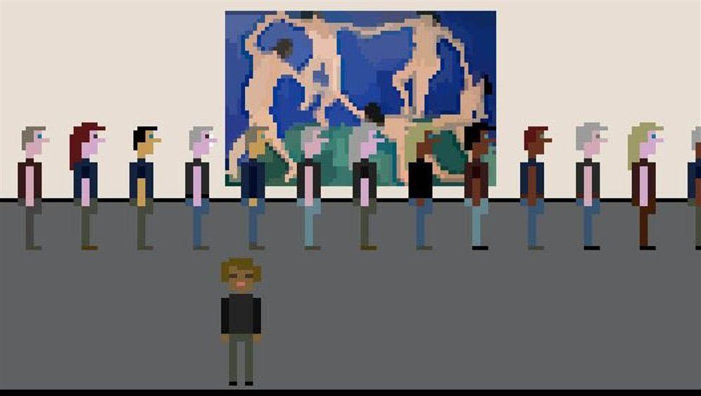 Kurioses Kunst-Game: Schlangestehen als Spielprinzip