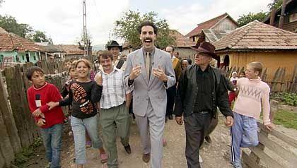 Filmfigur Borat: Die Statisten aus dem Dorf Glod fühlen sich hintergangen