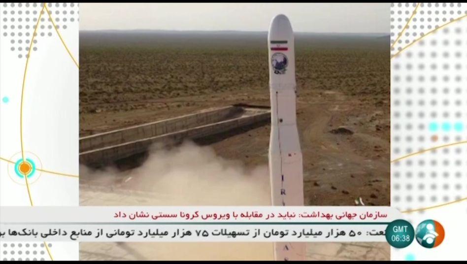 Bild des Starts in den iranischen Staatsmedien: Der Raketentyp war bisher noch nicht bekannt