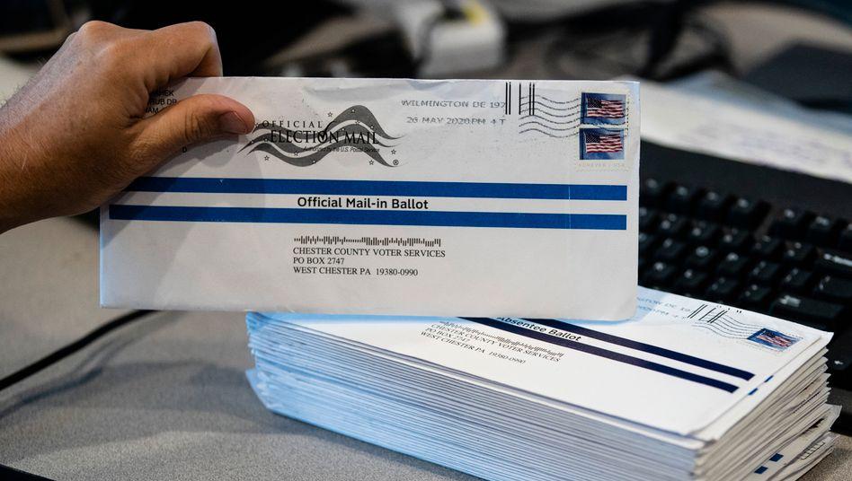In Pennsylvania dürfen rechtzeitig eingegangene Stimmzettel noch bis drei Tage nach der Wahl ausgezählt werden