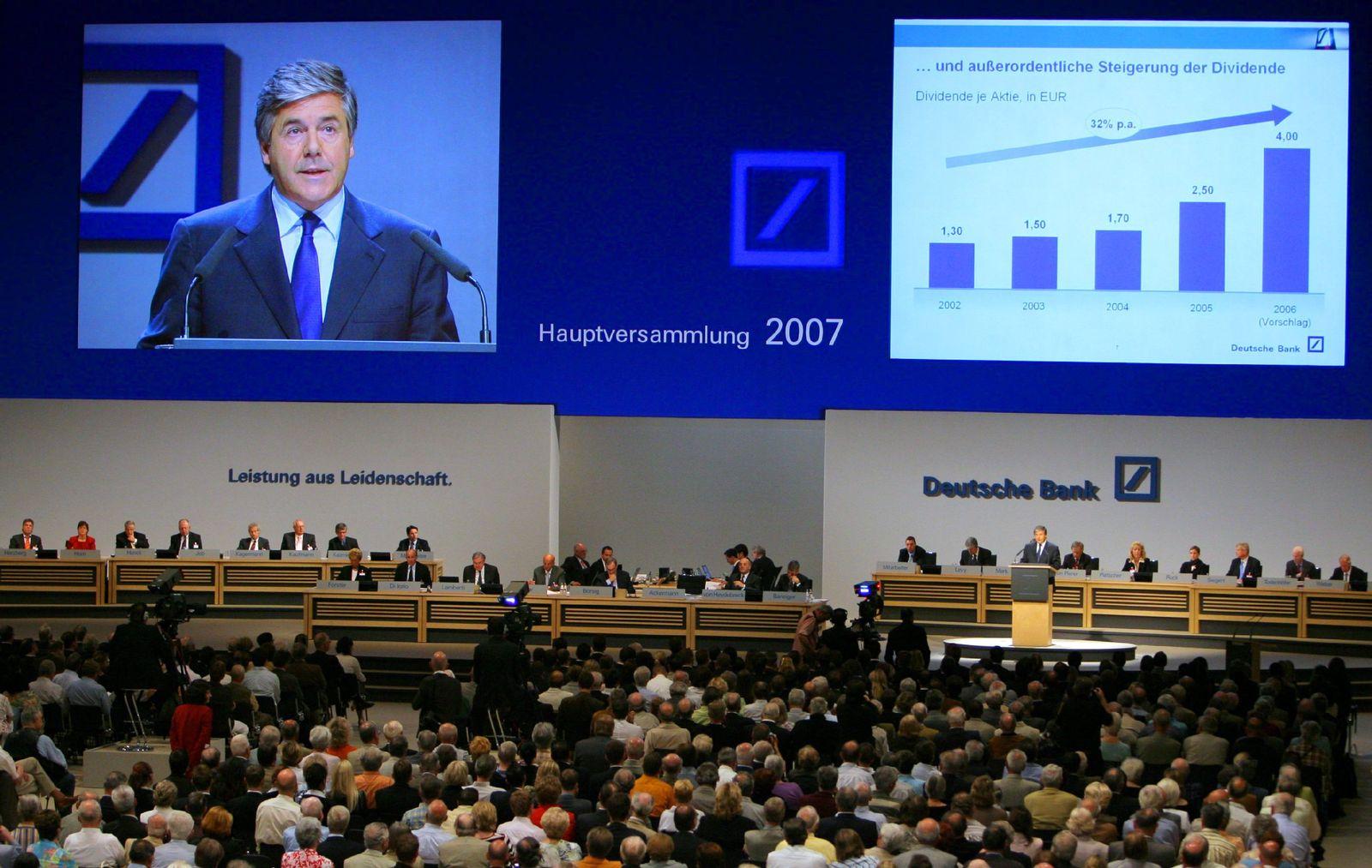 Hauptversammlung Deutsche Bank in Frankfurt