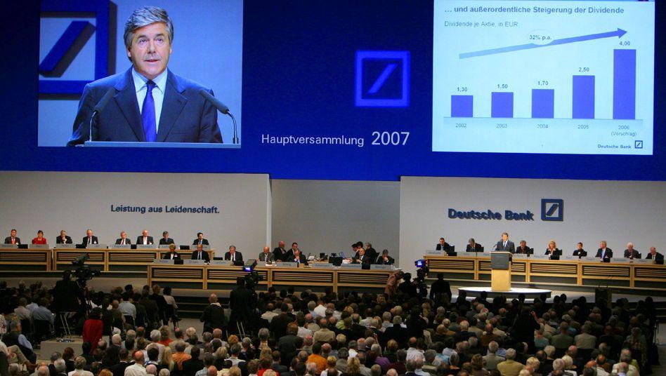 Hauptversammlung der Deutschen Bank (2007): Ein Plus bei der Dividende von 50 Prozent