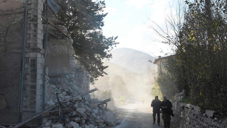 Zerstörtes Haus in Borgo Sant'Antonio