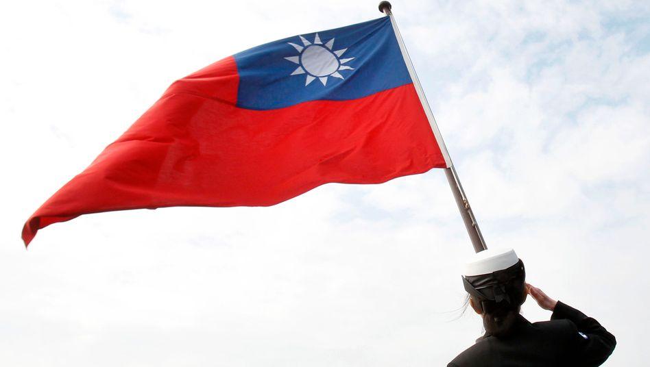 Taiwanesische Flagge: Die Beziehungen zu China sind seit Jahren angespannt