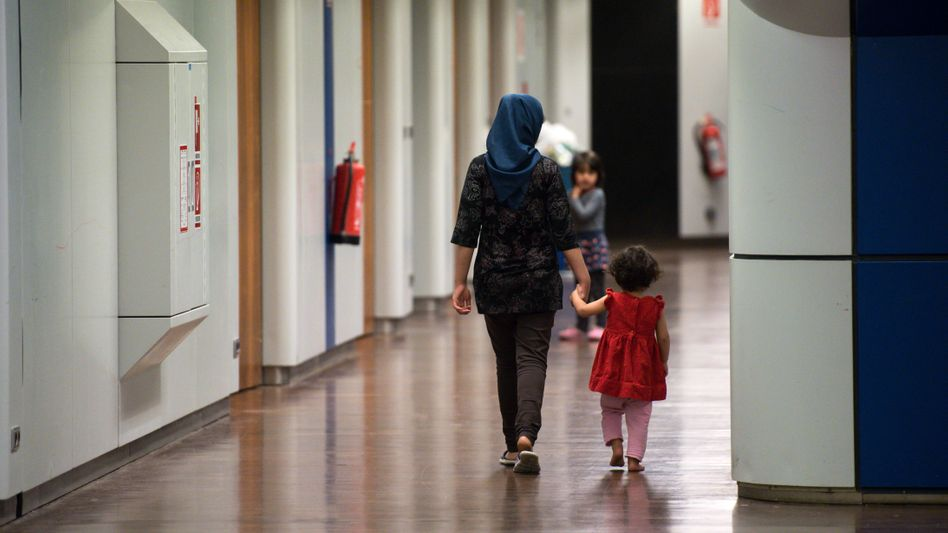 Flüchtlings-Notunterkunft in Berlin