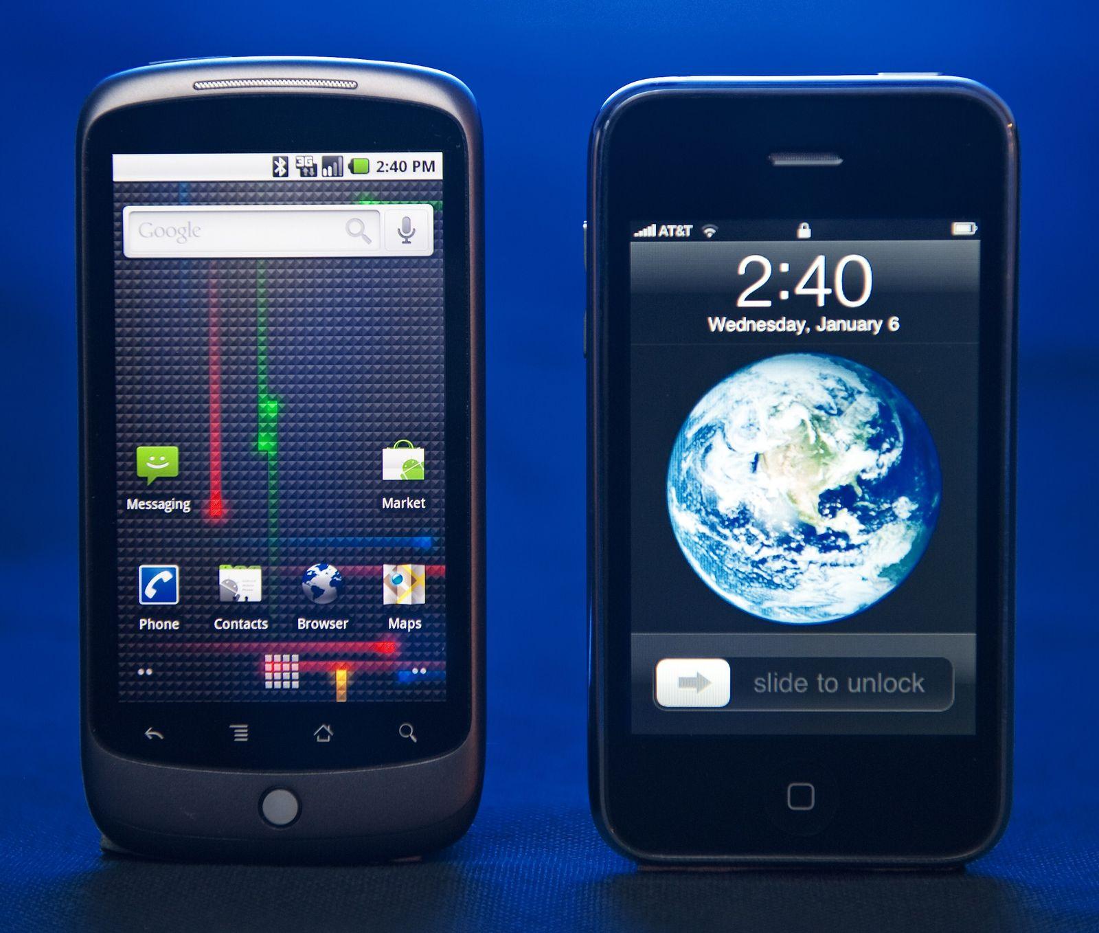 Google Nexus One und iPhone