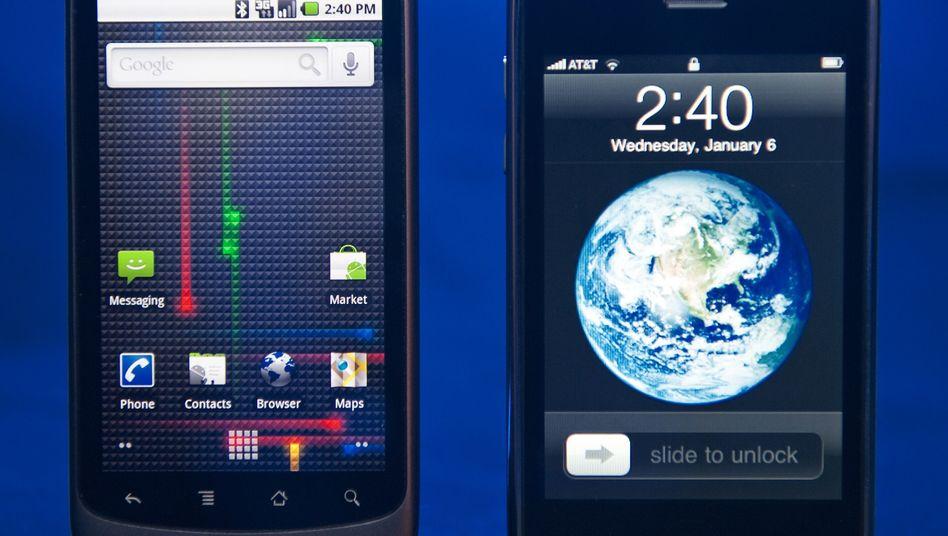 Google Nexus One und iPhone: Android-Handys verkaufen sich in den USA prächtig