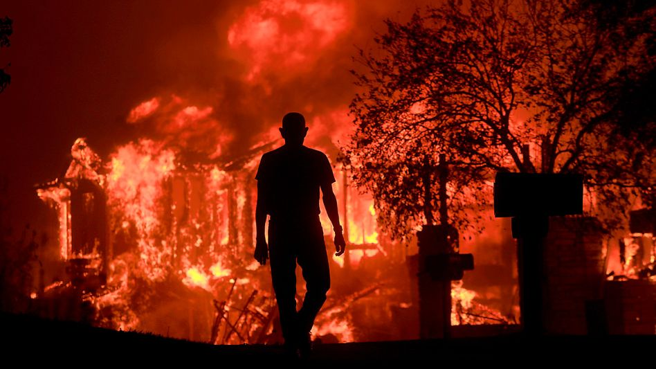Feuer in Kalifornien im Jahr 2017