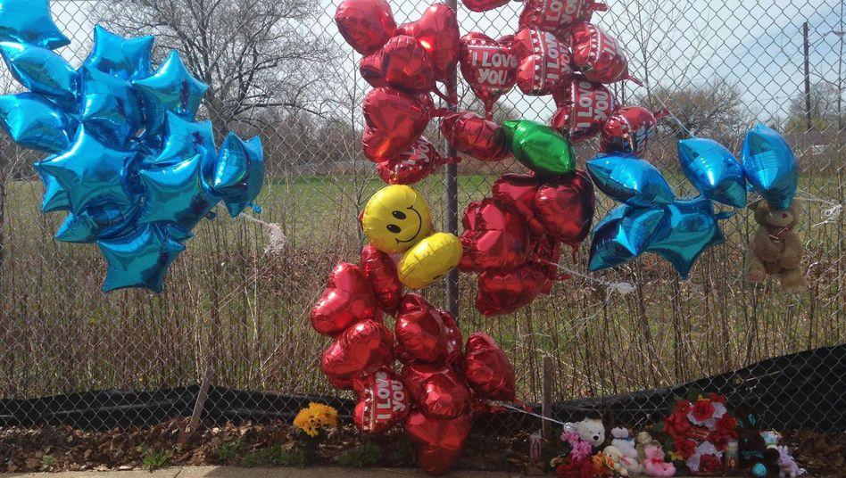 Gedenken am Tatort in Cleveland