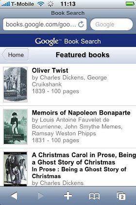 """Google Books fürs Handy: """"Oliver Twist"""" erst ab Band drei"""