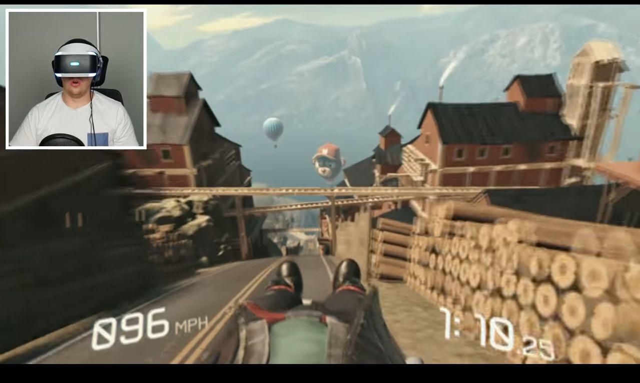 NUR ALS ZITAT Screenshot Fortbewegung VR/ locomotion-vr-luge