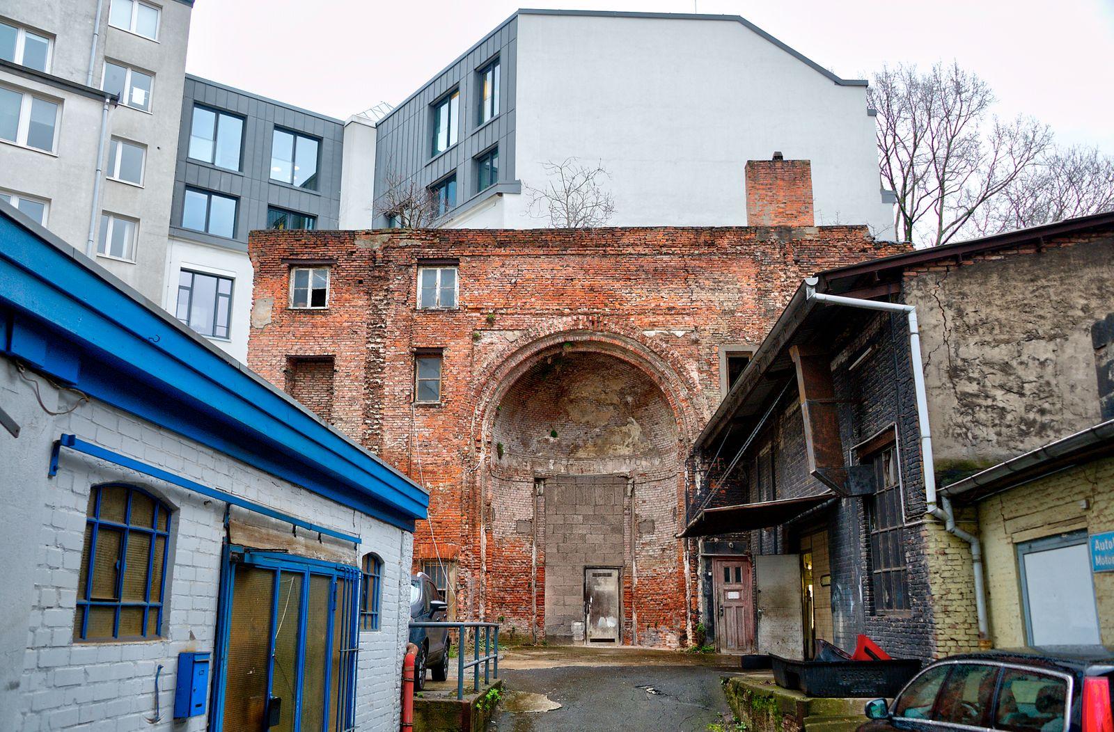 Hamburg, die Reste des EHEM.TEMPELS in der Poolstrasse.