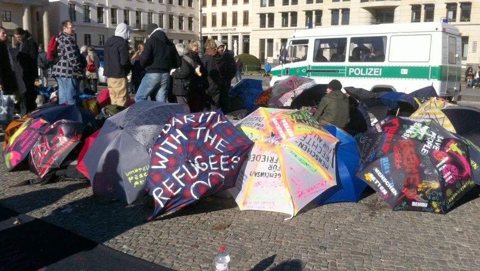 Flüchtlingsprotest in Berlin: Frieren ohne Schlafsack