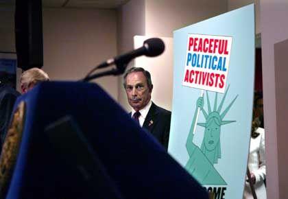 Bürgermeister Bloomberg auf einer Pressekonferenz im Vorfeld des Parteitags der Republikaner