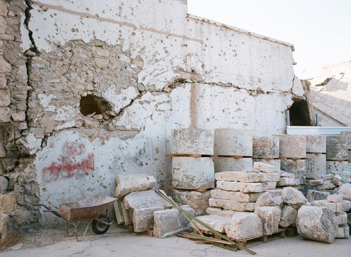 Spuren von Geschossen: Die Altstadt Mossuls wurde fast vollständig zerstört
