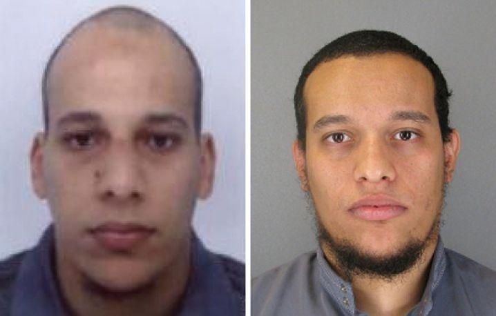 Tatverdächtige Cherif Kouachi, Said Kouachi (r.): Weiter auf der Flucht