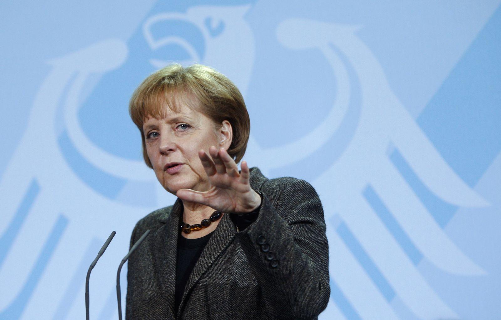 Merkel grimmig