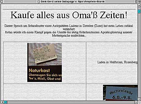 Gerd: Slogan aus Dresden, Bilder aus Heilbronn