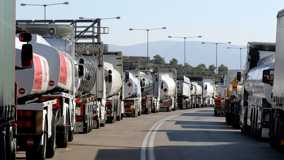 The recent strike by truck drivers caused gasoline shortages across Greece.