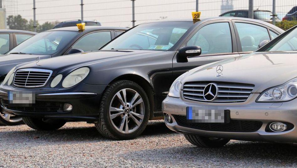 Beschlagnahmte Autos