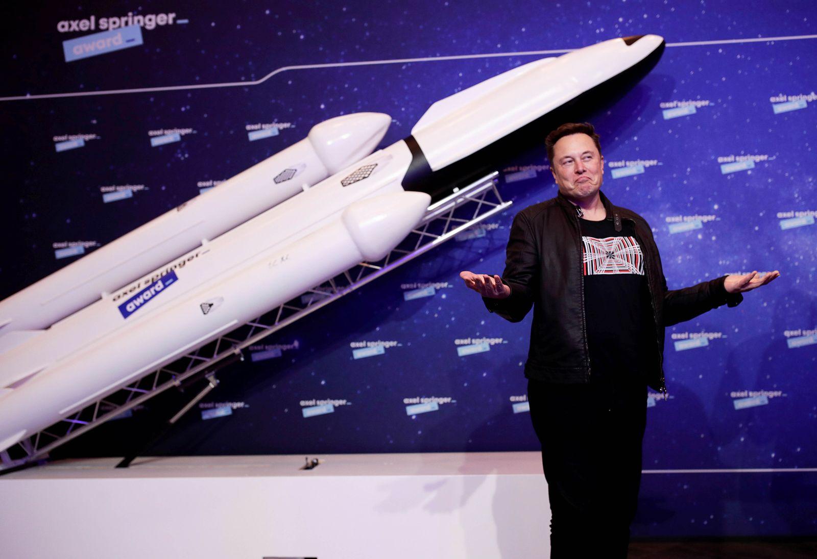 Elon Musk Awarded With Axel Springer Award 2020 In Berlin
