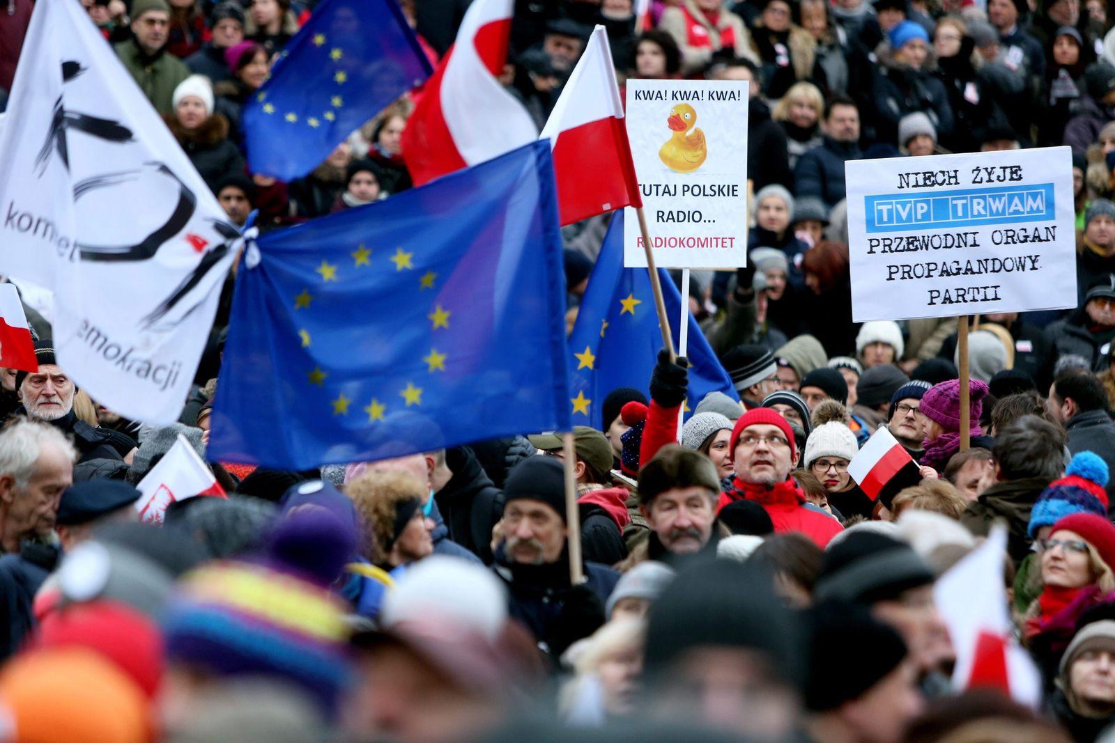 Proteste Polen / für freie Medien
