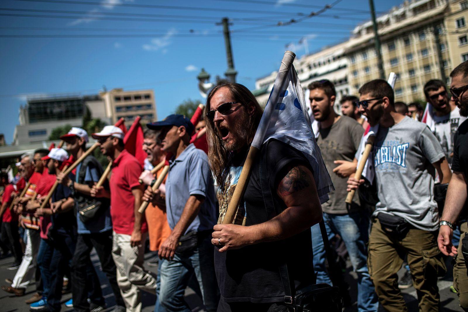 Griechenland Protest Sparpolitik