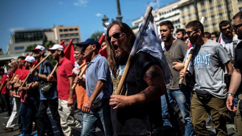 Proteste gegen die griechische Sparpolitik