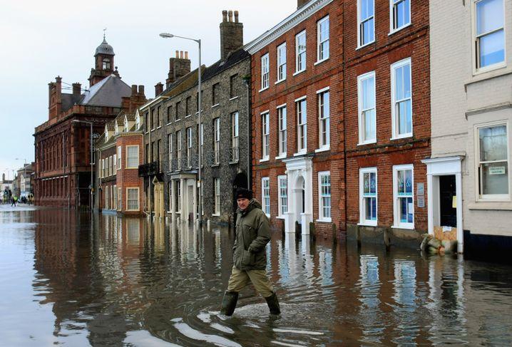 """Überflutung in Großbritannien (Great Yarmouth, November 2007): """"Also müssen wir vorbereitet sein"""""""