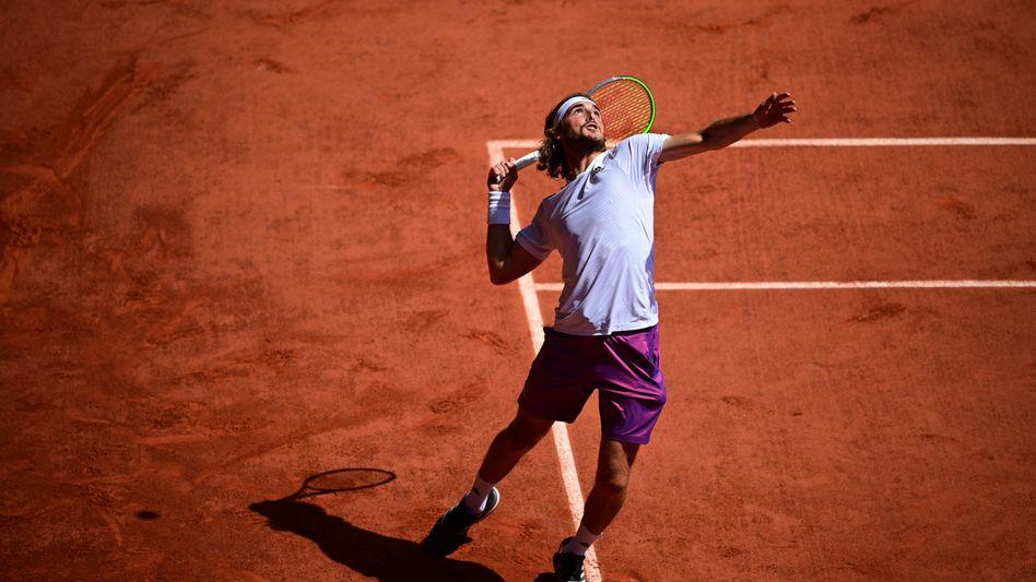 Stefanos Tsitsipas steht erstmals im Finale eines Grand-Slam-Turniers