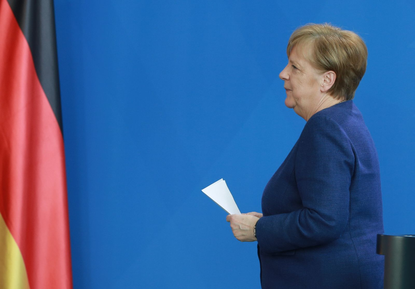 Merkel Makes First Public Appearance Since Quarantine Release, Speaks On Crisis Policies