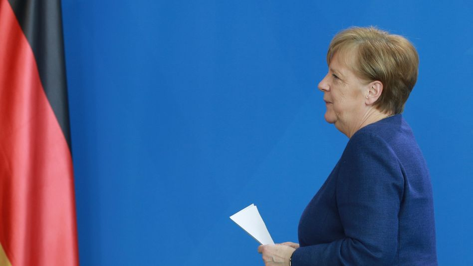 """Angela Merkel (am 6. April bei der ersten Pressekonferenz nach ihrer Quarantäne): """"Die Kanzlerin greift öffentlich nur dosiert in das Geschehen ein"""""""