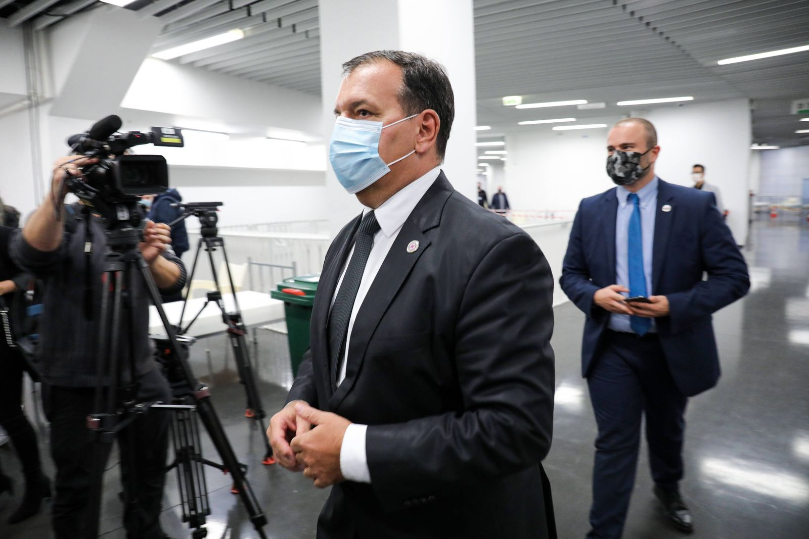Arena Zagreb converted to a field hospital for people infected with COVID-19 Croatian Minister of Health Vili Beros spe