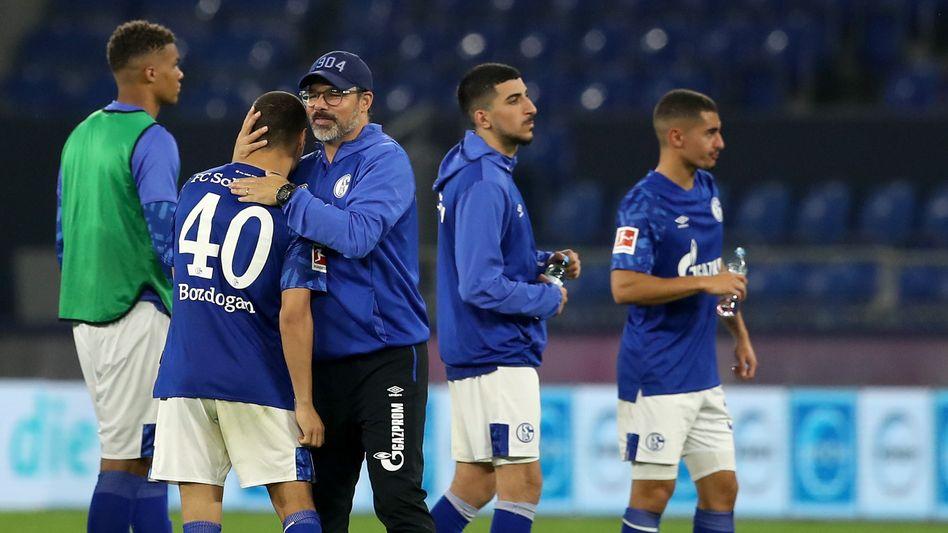 Debütant Bozdogan und Trainer Wagner: Ein bisschen Hoffnung für die Zukunft
