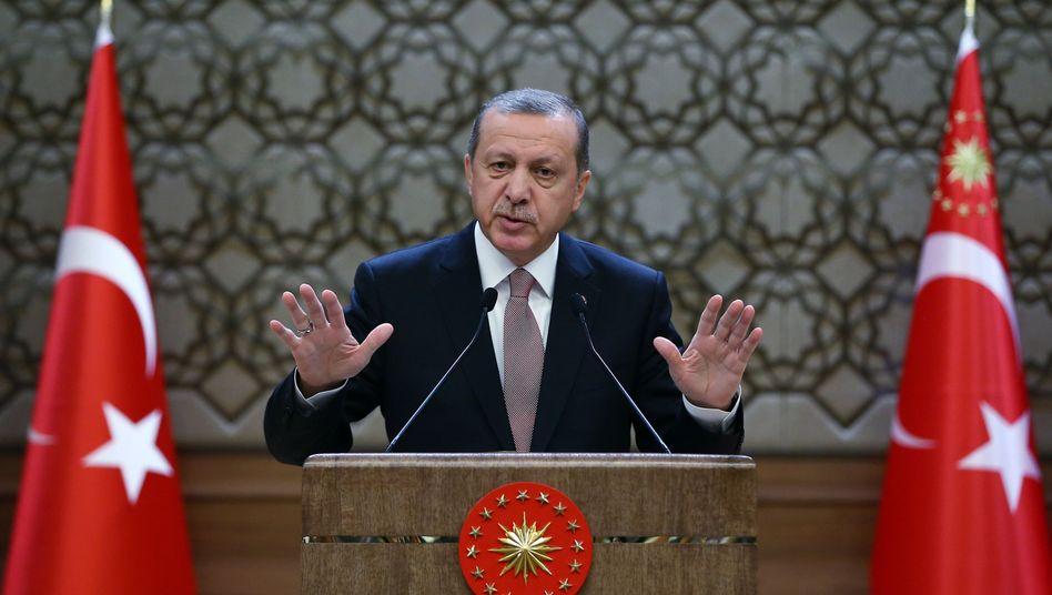 Türkischer Präsident Erdogan (am Donnerstag): Will keine Eskalation