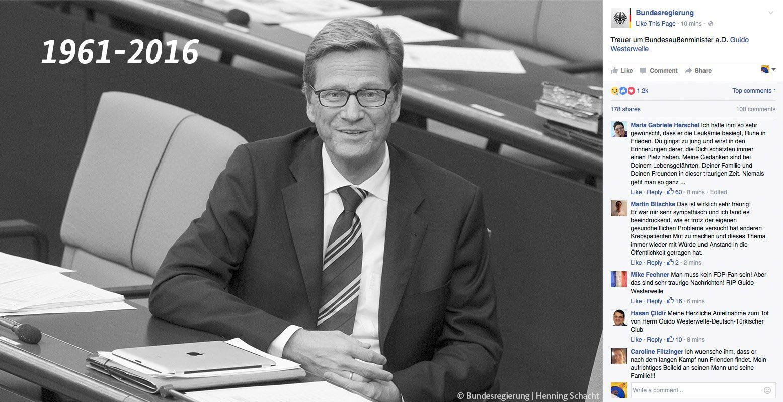 EINMALIGE VERWENDUNG Screenshot / Bundesregierung / Guido Westerwelle
