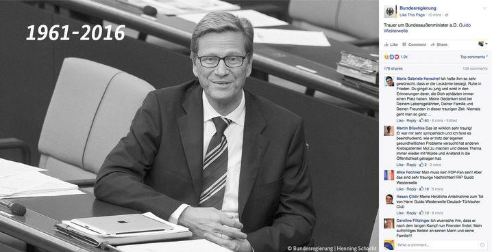 Trauer um Bundesaußenminister a.D. Guido Westerwelle