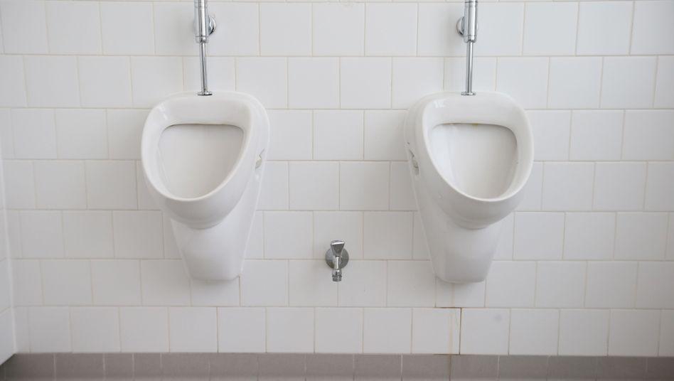 Klassisches Urinal: Weniger Spritzer dank Moos-Oberfläche?