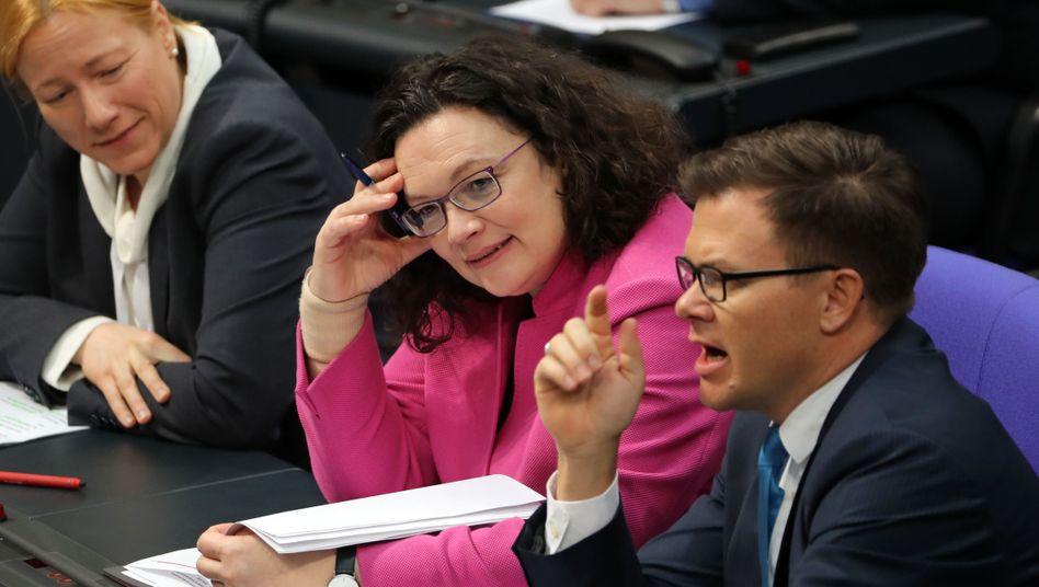Ex-SPD-Chefin Andrea Nahles im Bundestag (Archiv)