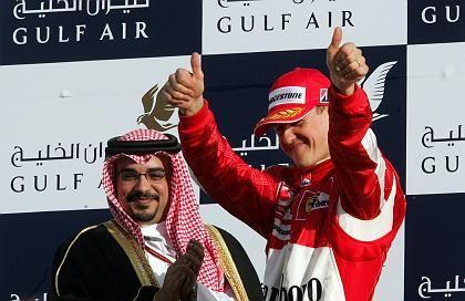 """Bahreins Kronprinz Al Khalifa, """"König"""" Schumacher: """"Sieg um Haaresbreite verpasst"""""""