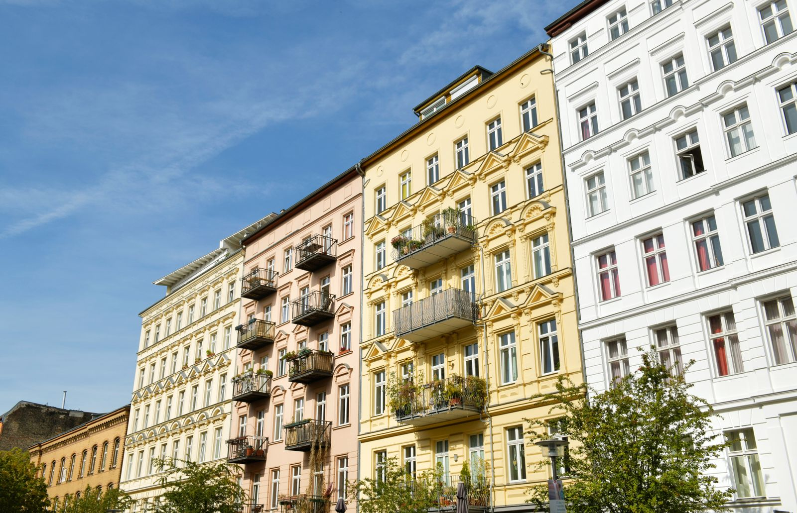 Altbauten, Oderberger Strasse, Prenzlauer Berg, Pankow, Berlin, Deutschland *** Old buildings, Oderberger Strasse, Prenz